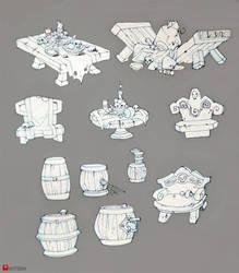 Entourage Sketches by Gimaldinov