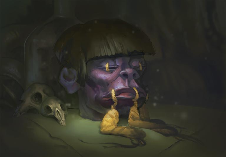 Shrunken Head 12 by Gimaldinov