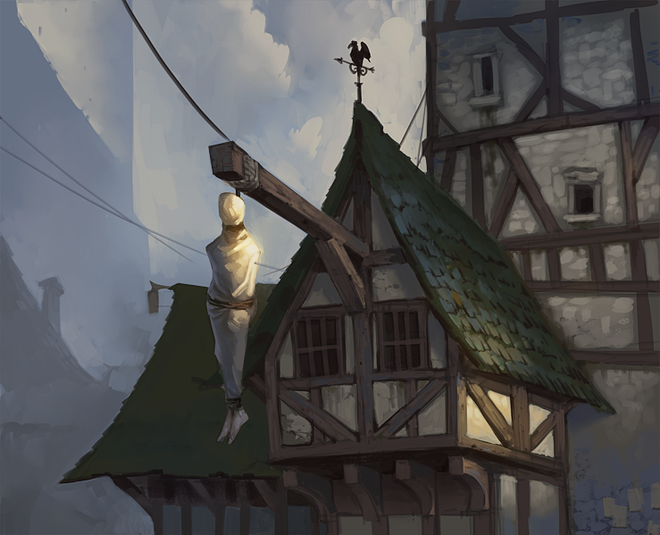 April of houses #2 by Gimaldinov