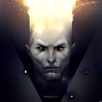 Cross-eyed demon by Gimaldinov