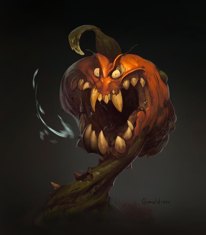 Creepy Pumpkin by Gimaldinov