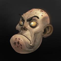 ZombieCreepy Head by Gimaldinov