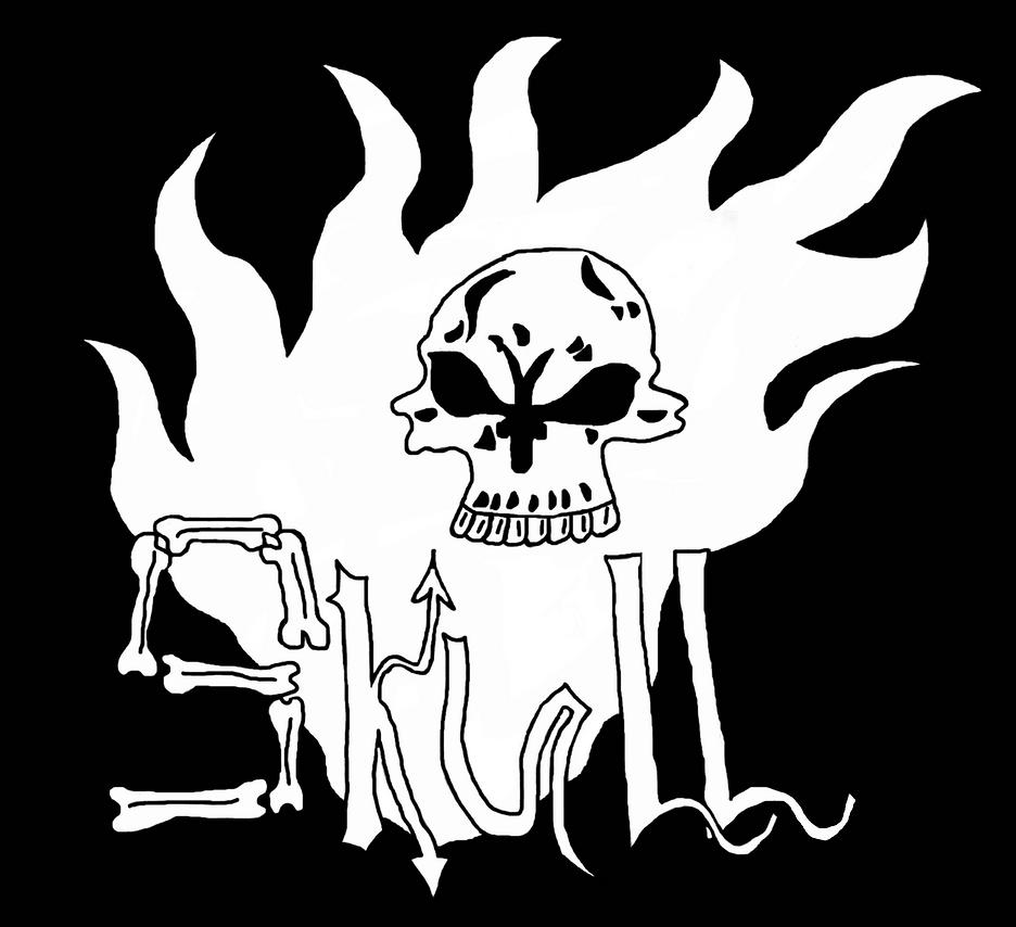 Skull on Fire by danlucaz