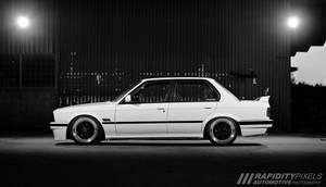 BMW 320i in spotlights