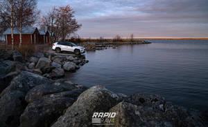 Toyota RAV4 on sunset