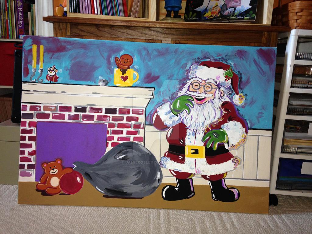 Santa laughs by JamieCosley