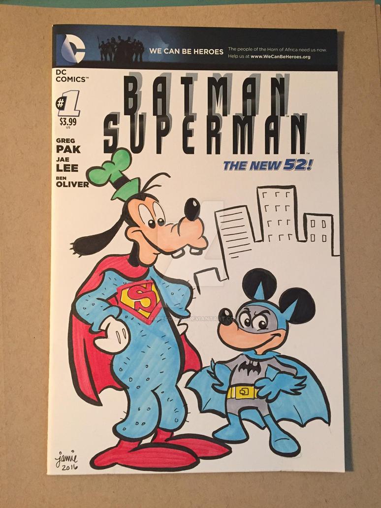 Super Goof Bat Mickey by JamieCosley