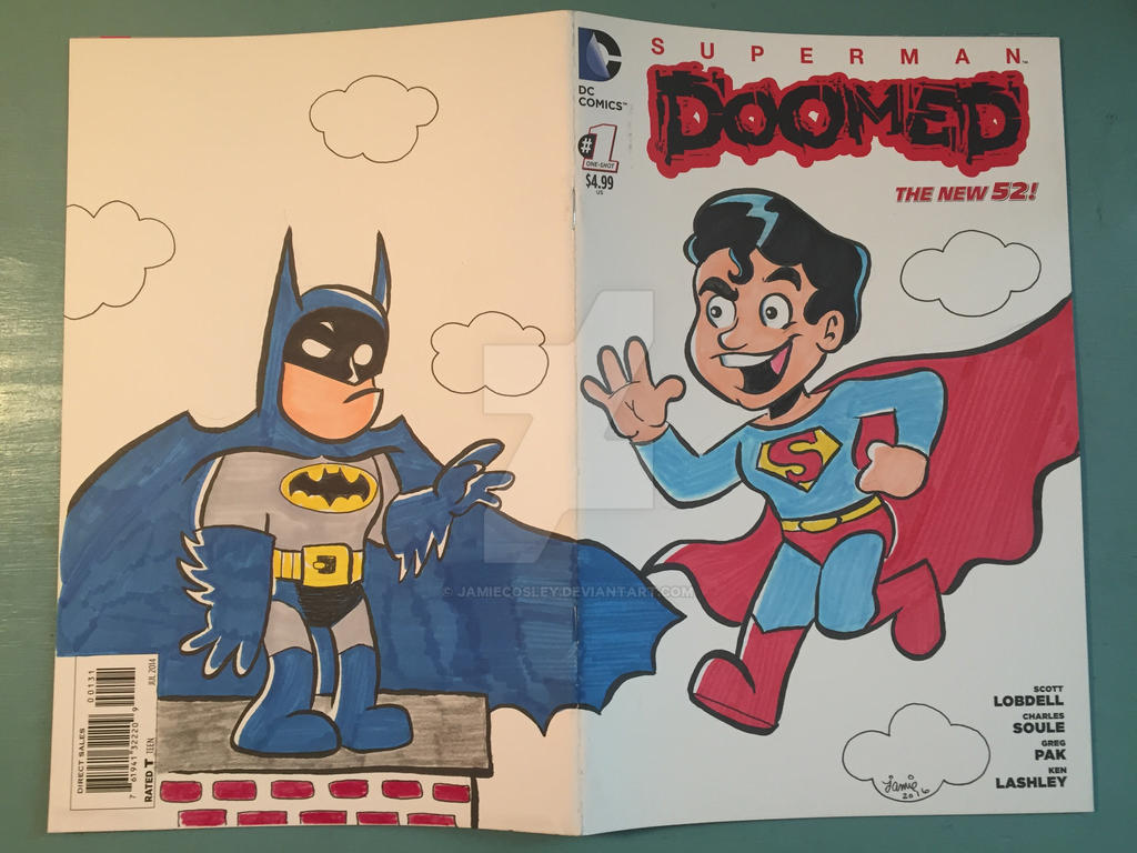 Superman Batman by JamieCosley