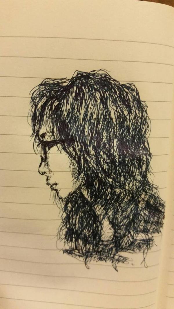 Self Portrait Sketch 1 by Chemeiko