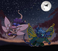 Fleeing to the  Night - Commission
