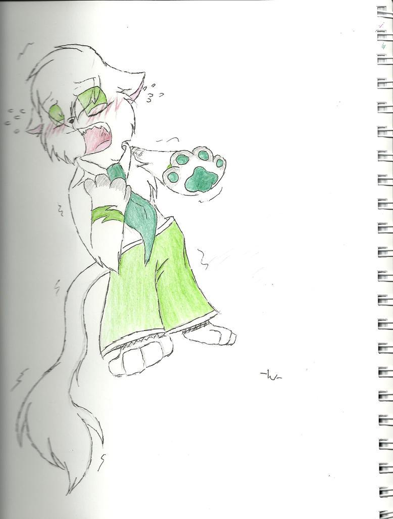 Sketchbook + Embarrassed Nox by Buckadog