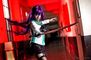Highschool of the Dead: Saeko Busujima by KiraHokuten