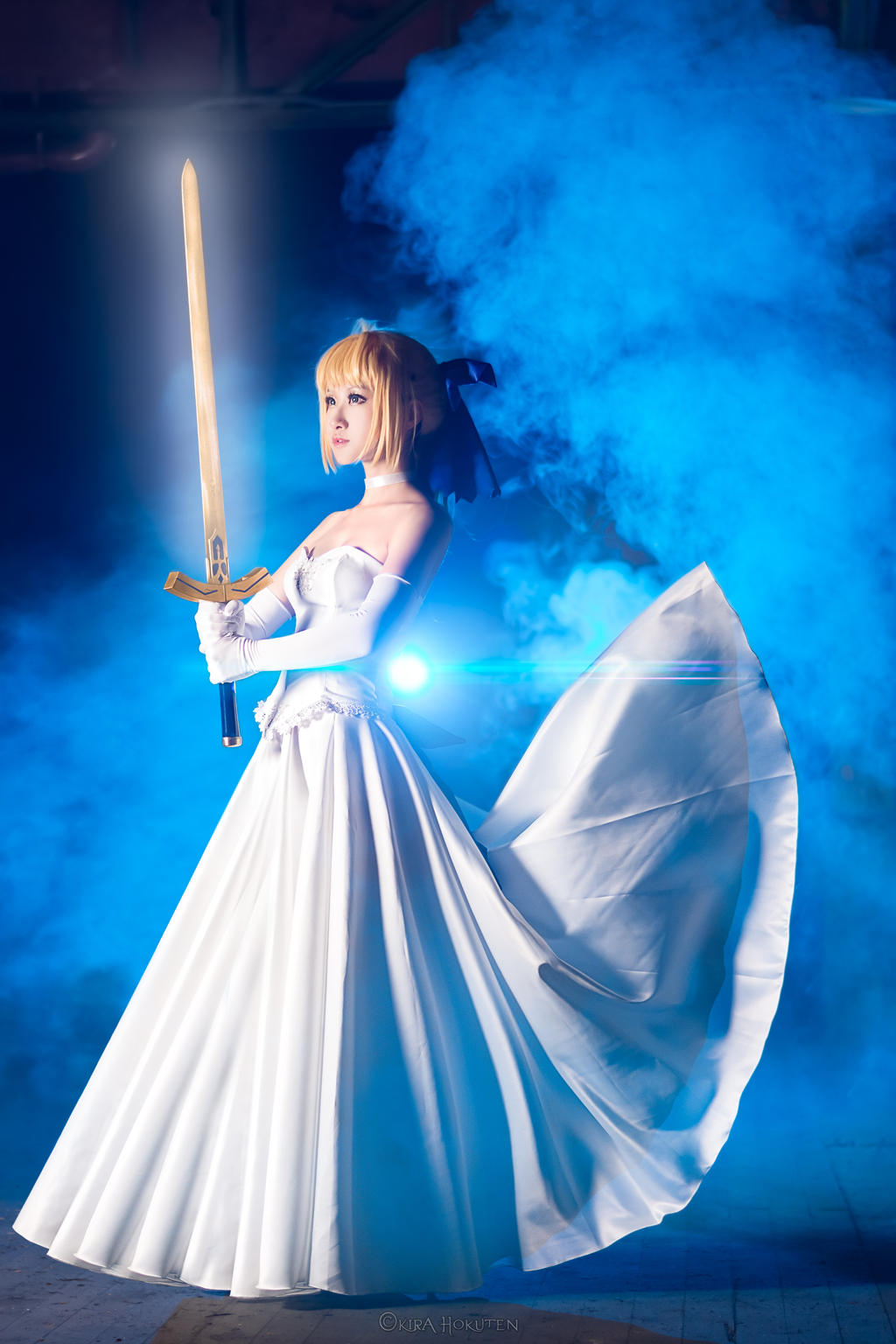 saber wedding dress by kirahokuten on deviantart