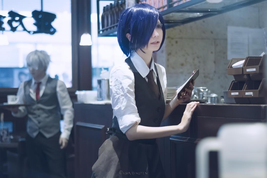 Tokyo Ghoul - Touka and Kaneki by KiraHokuten