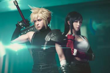Final Fantasy 7: Cloud and Tifa