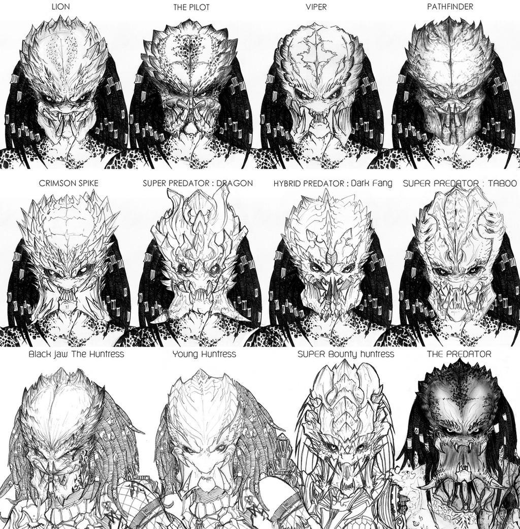 12 Predators face concept by CorruptionSolid on DeviantArt