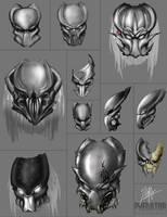 11 Predators Mask concept by CorruptionSolid