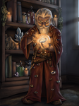 DnD Character Portrait: Felix the Gnome Wizard