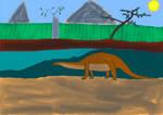 Retro Brontosaurus by Slade824