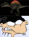 Double D angry at Monsters Resurrected Spinosaurus by Slade824