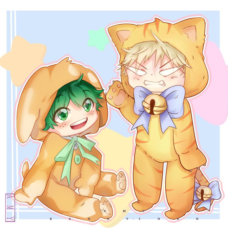 Fanart Cute Deku And Kacchan By Unii Bunny On Deviantart