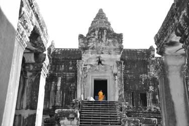 Monk in Angkor Wat by Beetlejuice-bee