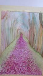 flower path aquarelle by edxart
