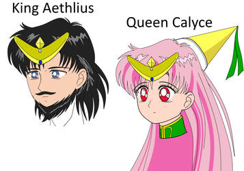 King Aethlius and Queen Calyce - early draft