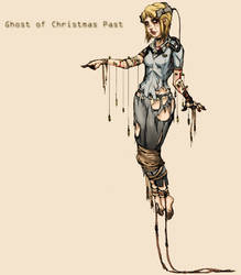 Cybernetic Ghost Of Christmas Past From The Future.Cybernetic Ghost Of Christmas Past From The Future