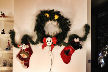 Homemade Nightmare Before Christmas Wreath by Moragot