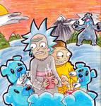 Rick and Morty Vs. Pokemon *snowbound* by Mister-Sukeruton