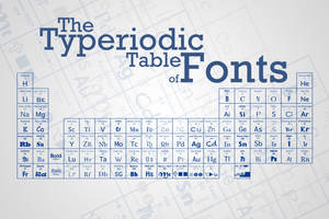 The Typeriodic Table Of Fonts by ThefortyfifthWord