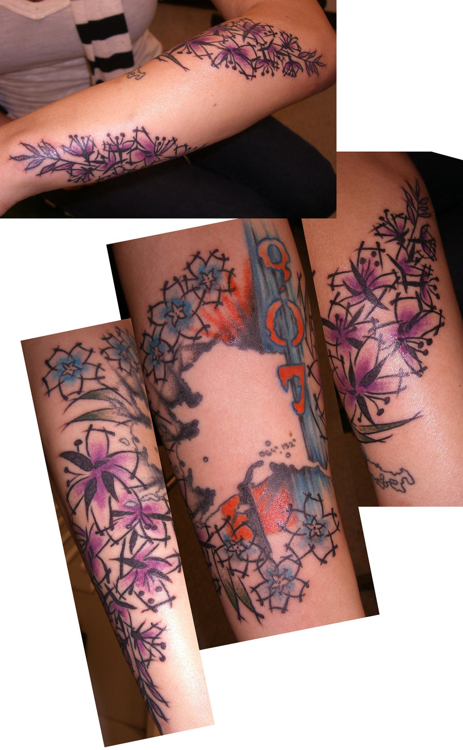 Fireweed and forget me nots by candicethetattooist on for Tattoo shops in aurora