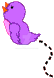 Country Folk Graphics 1999 | Purple Baby Birdie by DanaHaynes