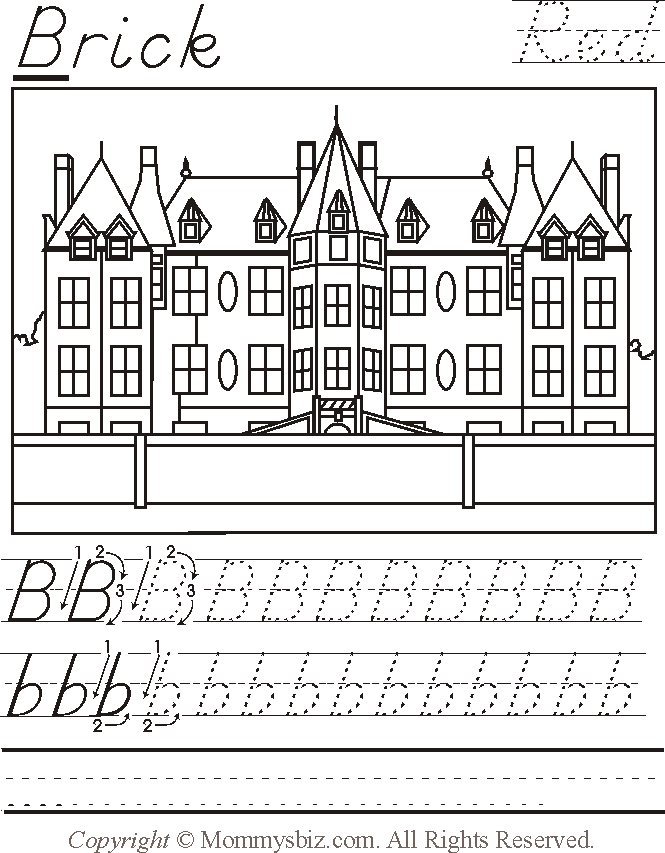 mommysbiz a brick red preschool worksheet by danahaynes. Black Bedroom Furniture Sets. Home Design Ideas