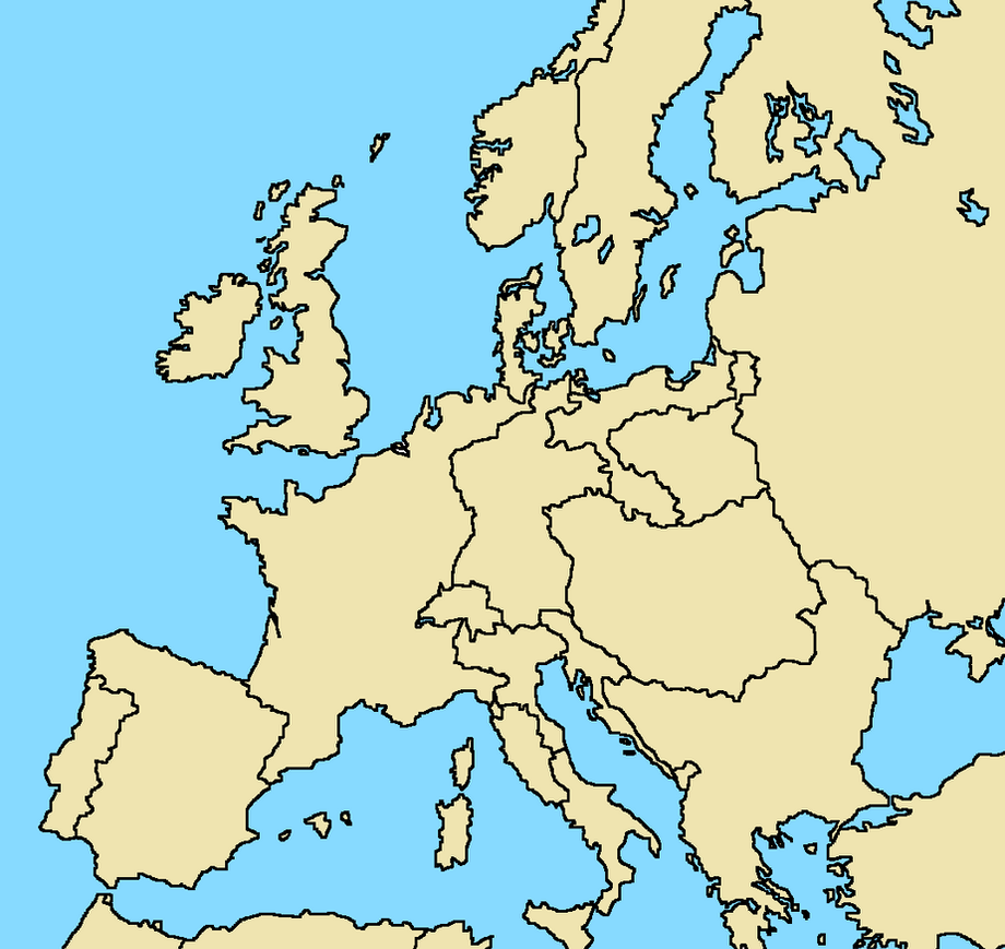Blank Map Of Europe With Borders.Blank Map Of Europe With Borders Design Templates