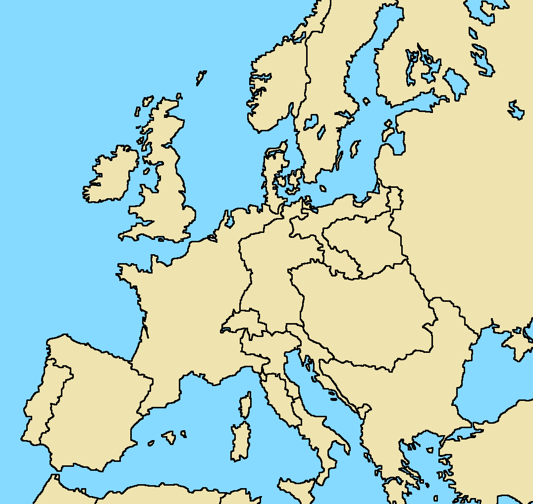Blank map of Europe, 1810 borders by AblDeGaulle45 on DeviantArt