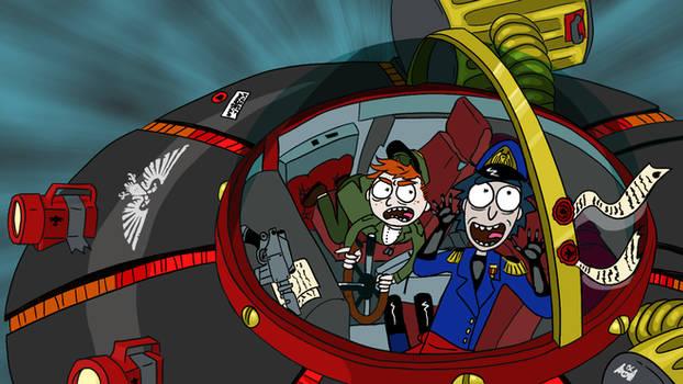 Rick and Morty - Warhammer 40K Commissar Mashup