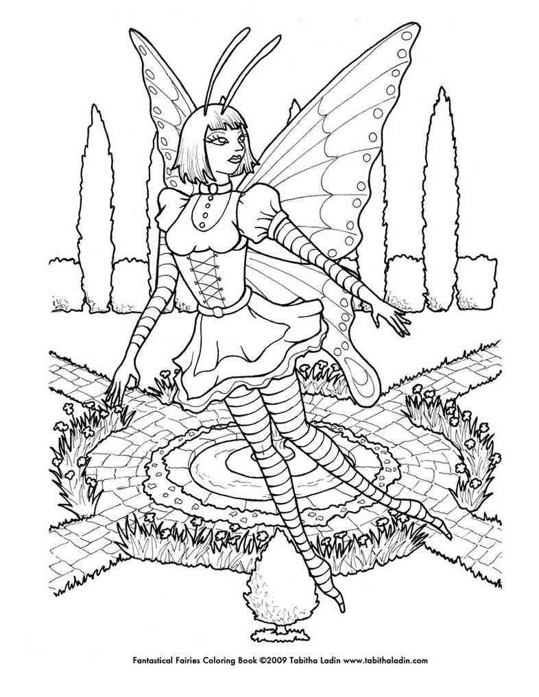 Butterflies And Fairies Coloring Page - Butterfly And Fairy ...   1017x786