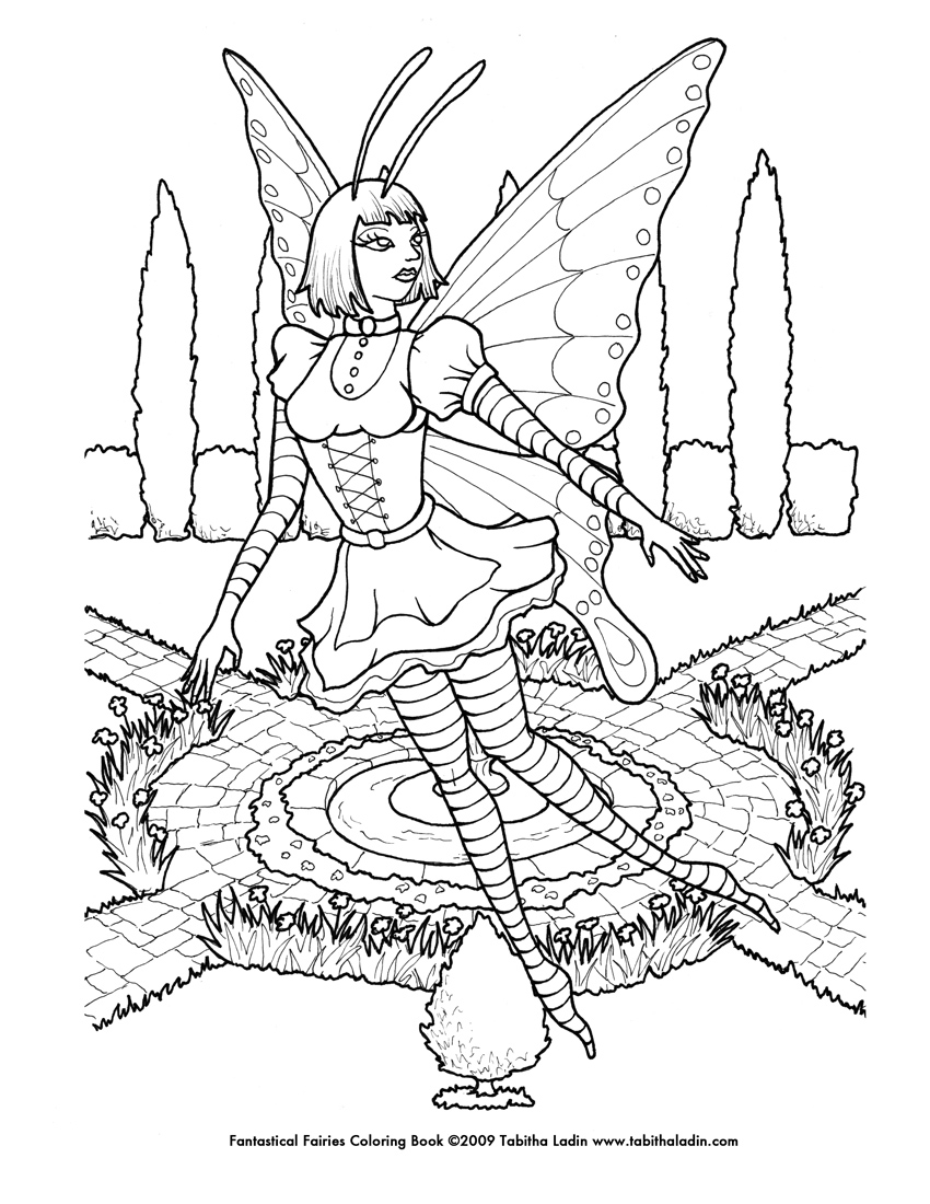 Goth Fairy Coloring Page By Equustenebriss On Deviantart