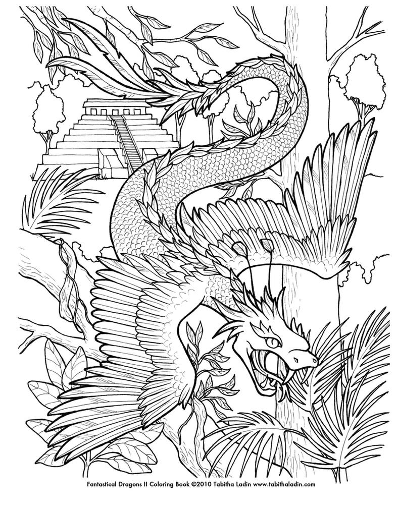 fantasy creatures coloring pages - photo#25
