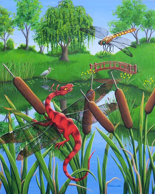 On Dragonfly Pond by TabLynn