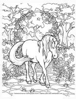 Unicorn Coloring Page by EquusTenebriss