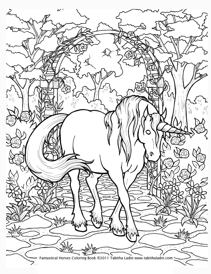 Kids' Activities Colouring Page Unicorn For The Horde