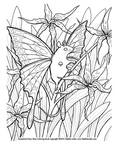 Lily Fairy Mouse coloring page