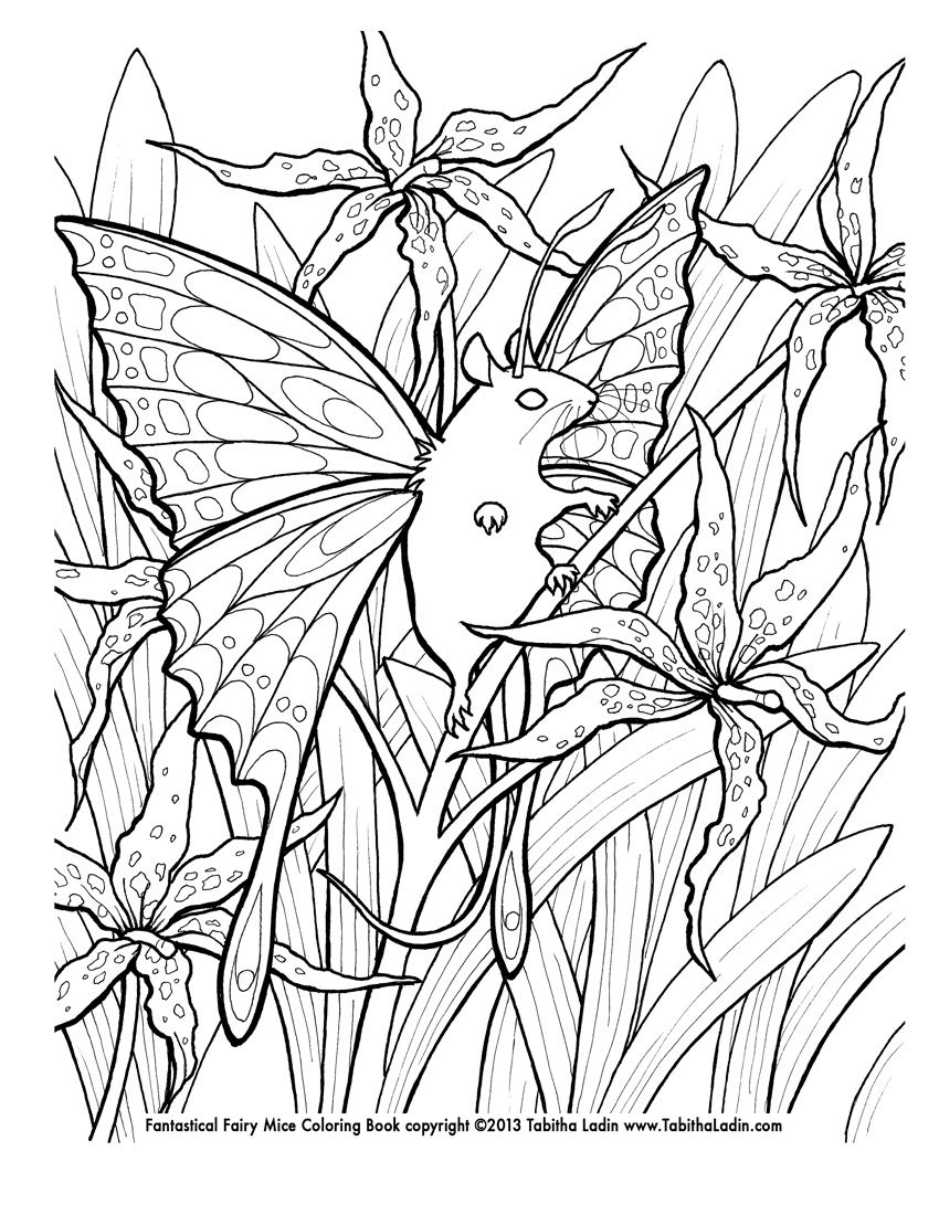 Detail goth fairy coloring page printable coloring pages -  Lily Fairy Mouse Coloring Page By Tablynn