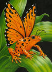 Orange Poison Fairy Frog by EquusTenebriss