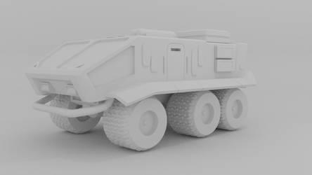 Sci-fi military truck