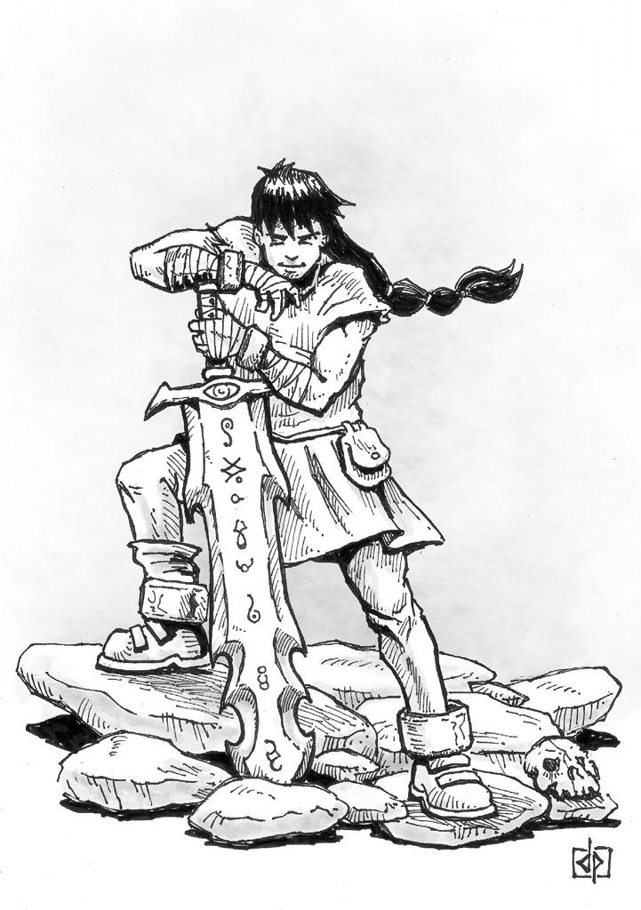 Inktober day 6: sword by DQuaro