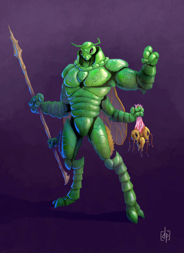 August character design challenge: insect warrior